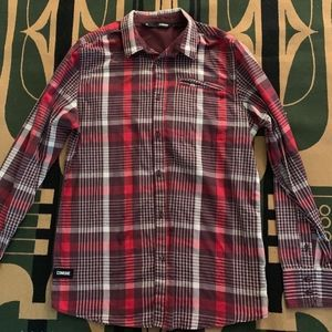 Commune Red Button Down